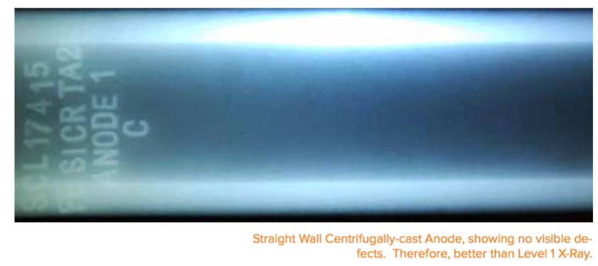 centrifugally cast anode